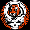 Skull Sticker Tiger Strips Image
